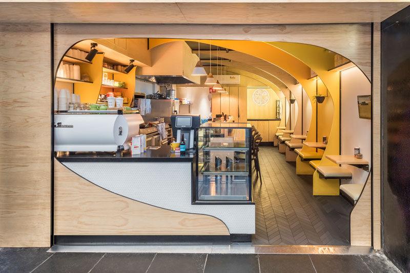 Australian-based Studio Y. have designed the branding and interiors of 'Mock Turtle', a modern café in Melbourne. #CafeDesign #ModernCafe #InteriorDesign