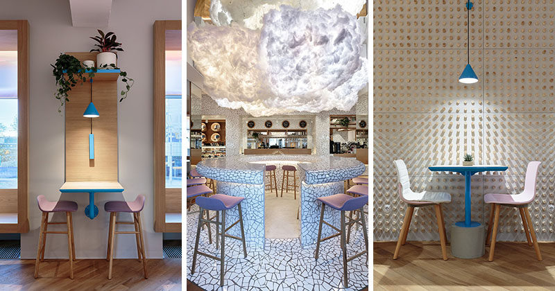 "Interior designer Marat Mazur has recently completed ""Forget The Sugar"", a new cafe in Saint Petersburg, Russia, that serves food with high quality natural ingredients instead of sugar. #CafeInterior #CafeDesign #InteriorDesign"