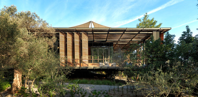 This Clubhouse Was Designed To Minimize The Impact On Its Environment