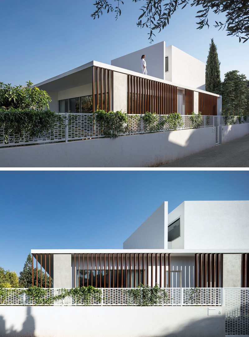 Architecture and design studio Tal Goldsmith Fish, have completed a new modern house inRamat Hasharon, Israel. #ModernHouse #ModernArchitecture