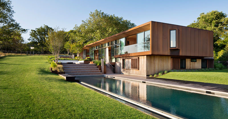 This Modern Home In The Hamptons Sits Among The Sycamore Trees