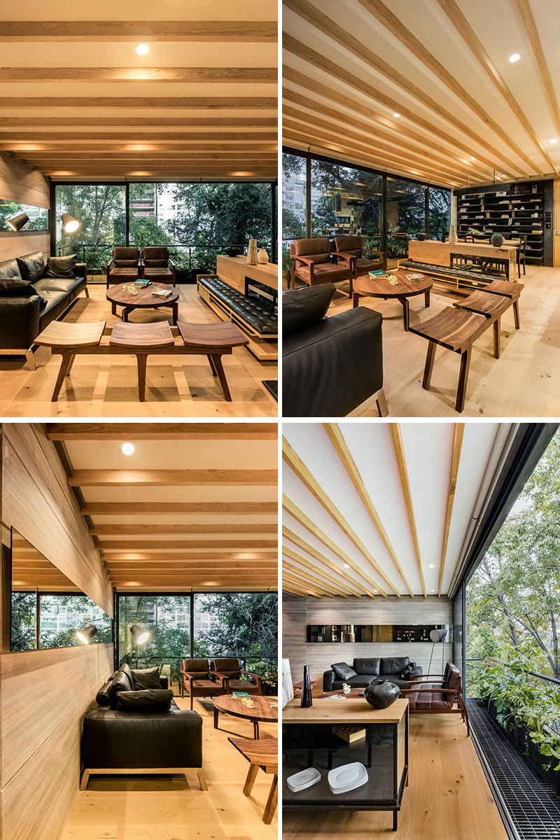 Living Room Modern Wood Interior Design