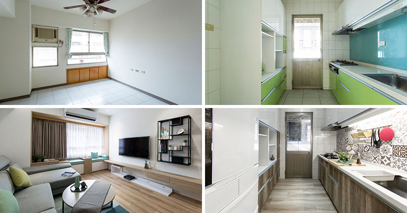 Before & After - A Plain 1980s Apartment Has Been Transformed Into A Space Of Contemporary Comfort