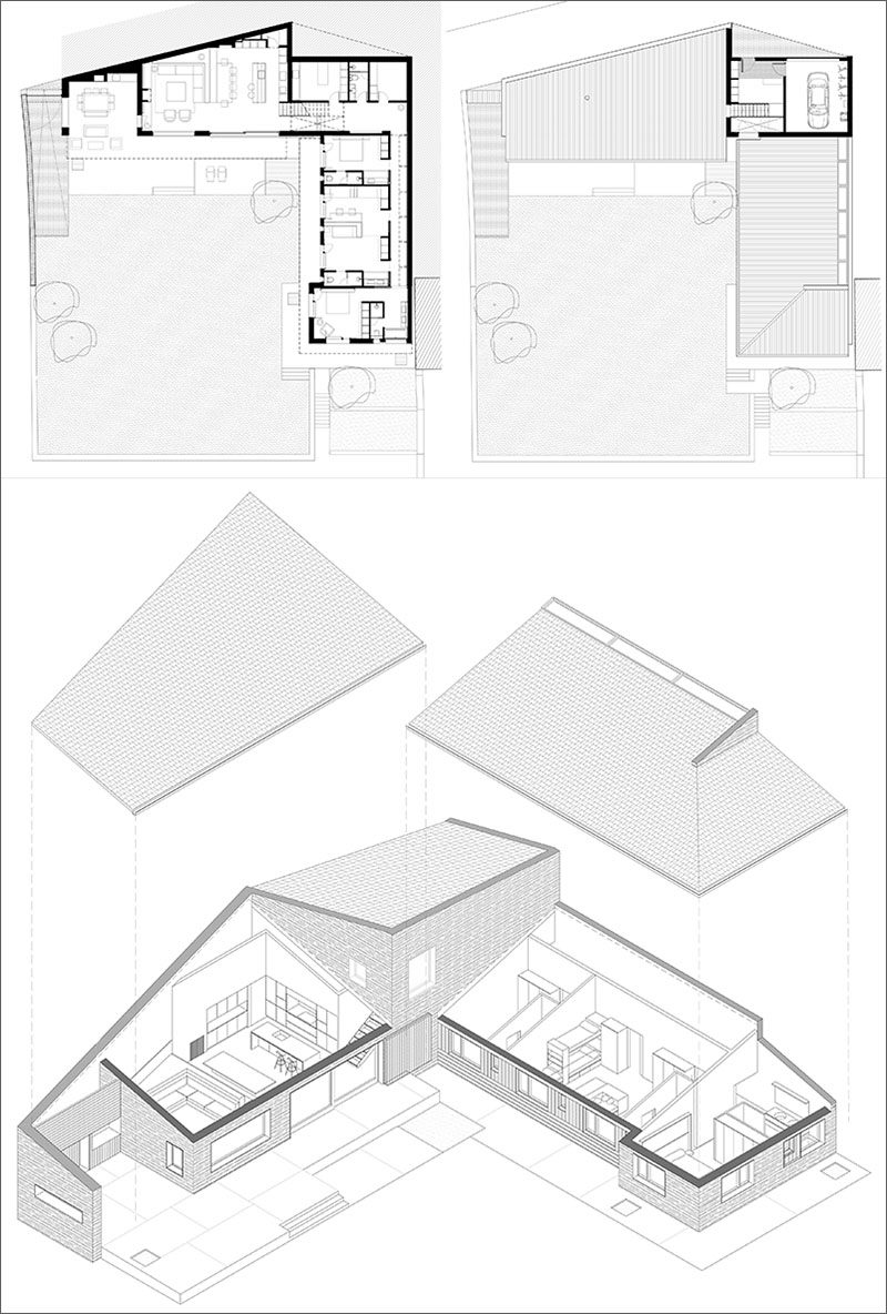 FLOOR PLAN - Dom Arquitectura have designed a new and contemporary family house that's situated in La Cerdanya, an old settlement east of the Pyrenees, divided between France and Spain. #Architecture