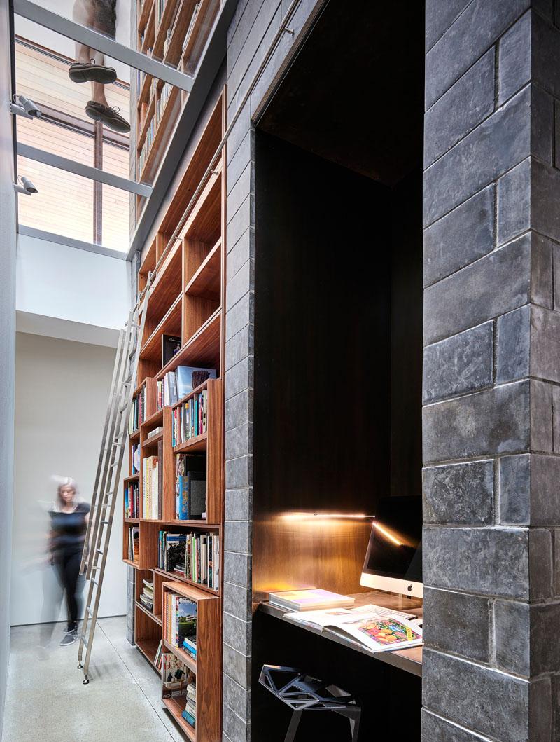 Modern Built In Bookshelf Library 280918 1146 18 Contemporist