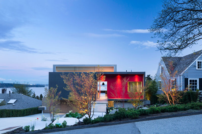 McLeod Bovell Modern Houses have completed a new house in West Vancouver, Canada, for a couple with three grown children, who requested a compact and simplified living arrangement with an eye to retirement. #ModernArchitecture #ModernHouse #HouseDesign #Landscaping