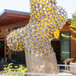 Hundreds Of Bow-Tie Shaped Aluminum Pieces Make Up This New Sculpture In Portland