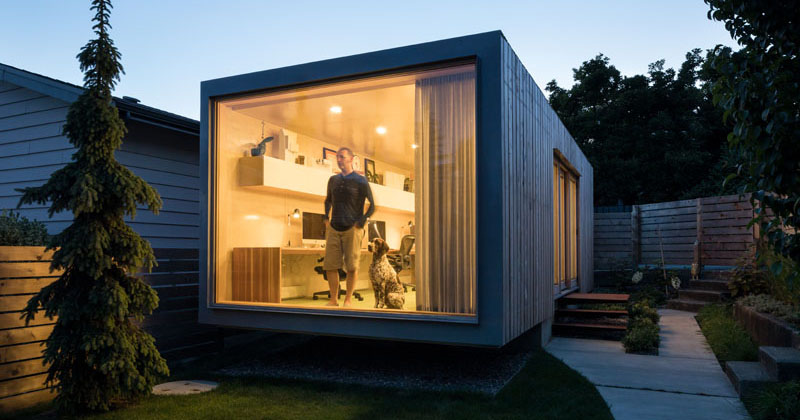 This Architect Built A Home Office Out Of A Shipping Container