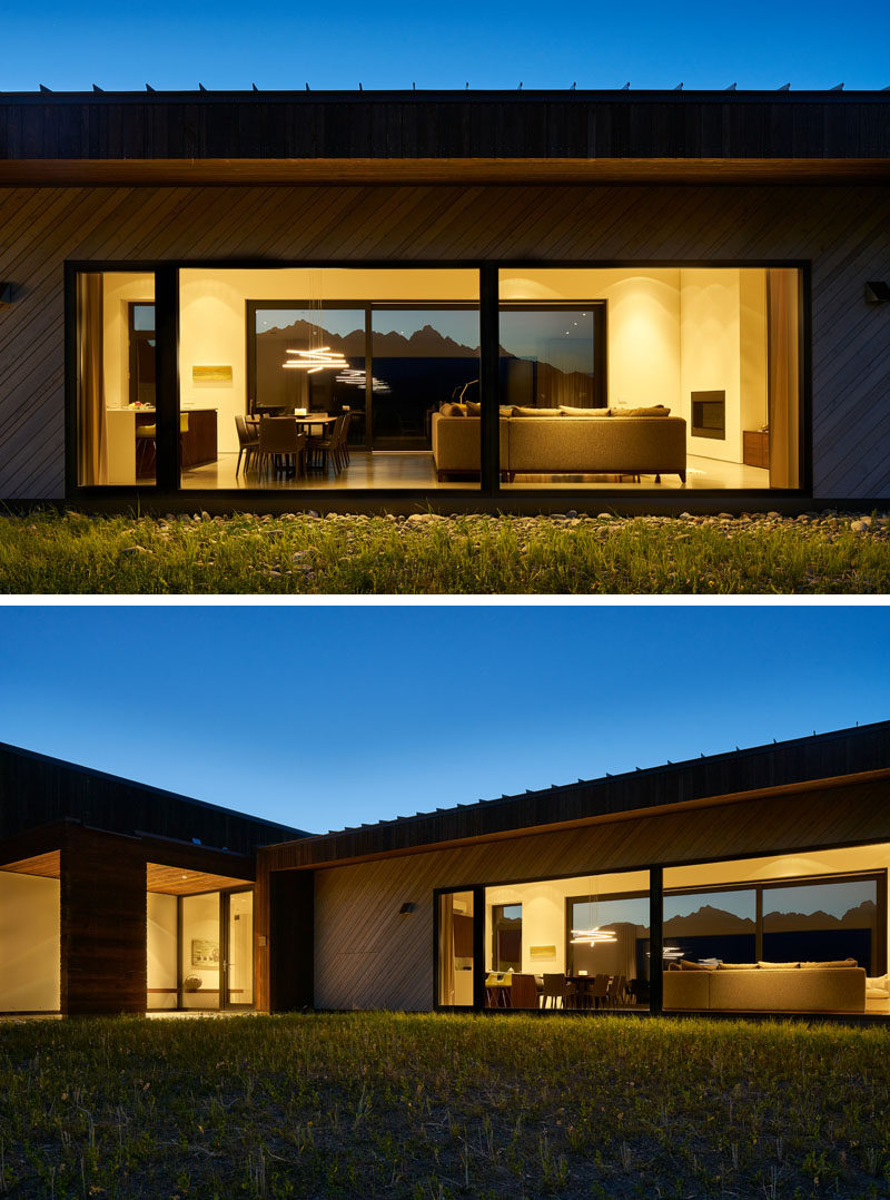 This modern house has large windows to allow for picturesque mountain views. #Windows #LargeWindows