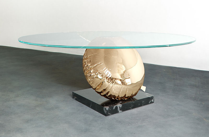 Christopher Duffy and Dario Costa have designed The Balloon Table (Balance) for Duffy London. #ModernFurniture #FurnitureDesign #Design #Table