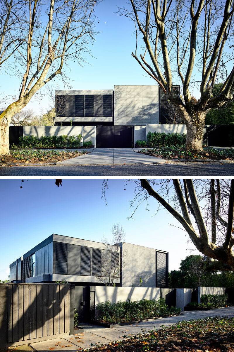 AGUSHI Construction together with architects and interior designer firm Workroom, have completed a new 4-bedroom residence in Melbourne, Australia. #ModernHouse #ModernArchitecture
