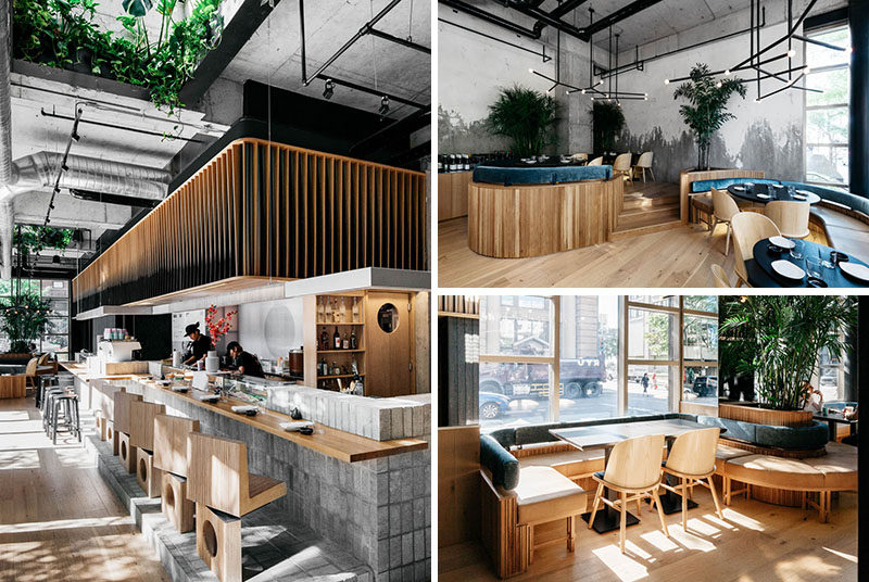 Ménard Dworkind architecture & design have recently completedRyù, a new Japanese restaurant who opened their latest location in Montreal's Westmount neighbourhood. #RestaurantDesign #ModernRestaurant #Montreal #SushiBar