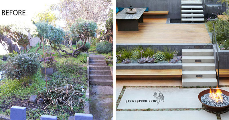 Before And After ? An Overgrown Garden Was Transformed Into A Backyard Oasis
