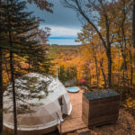 These Domes Were Placed Among The Trees To Provide Holiday Accommodations In The Forest Near Quebec City