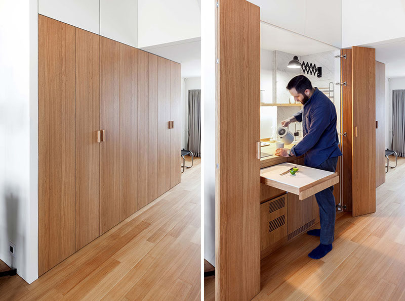Design Detail ? This Small Apartment?s Hall Closet Hides A Kitchen And A Laundry