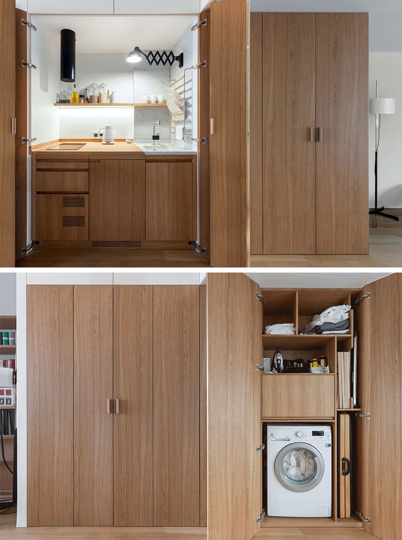 Design Detail This Small Apartment S Hall Closet Hides A