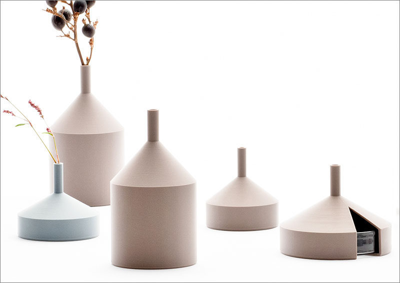 The 'Unfinished Vase' collection was made using a 3D printing technology. #Vase #Decor #Design #3DPrinting