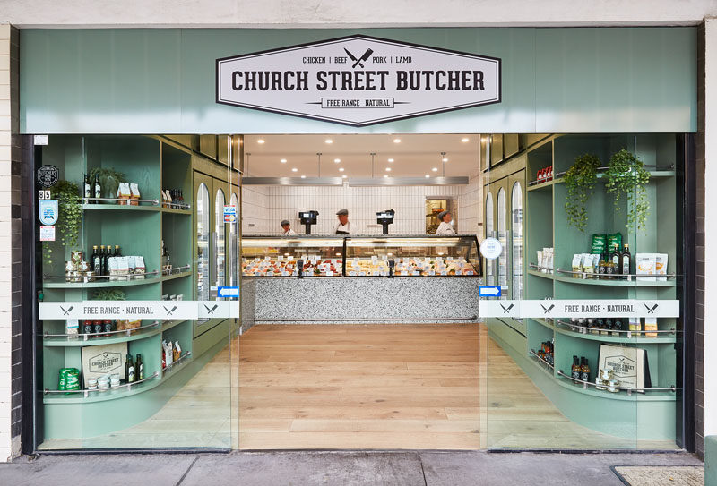 Architecture and interior design firm Ewert Leaf, have recently completed the re-design of Church Street Butcher, located in a coastal suburb of Melbourne, Australia. #ModernButcher #RetailDesign #InteriorDesign