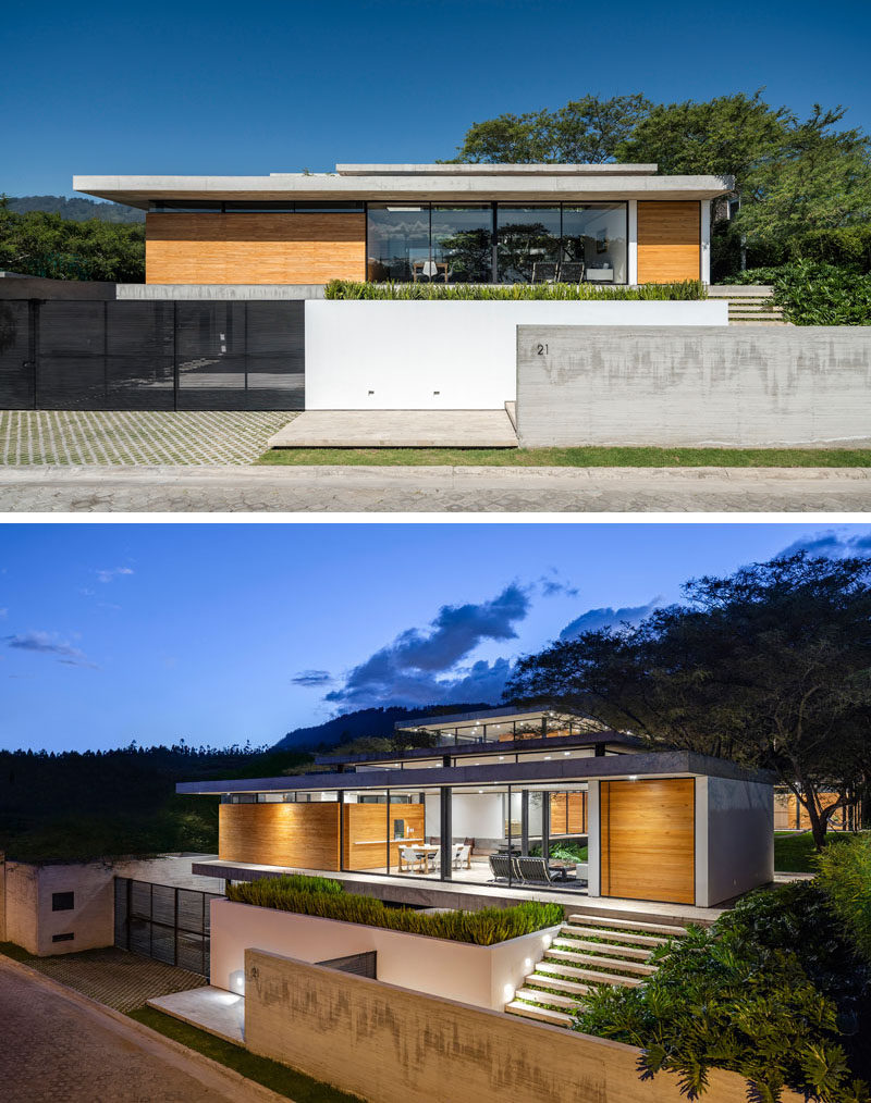 Gabriel Rivera Arquitectos have completed the Tacuri House, a modern home in Quito, Ecuador, whose design was inspired the natural environment that surrounds it. #Architecture #ModernHouse