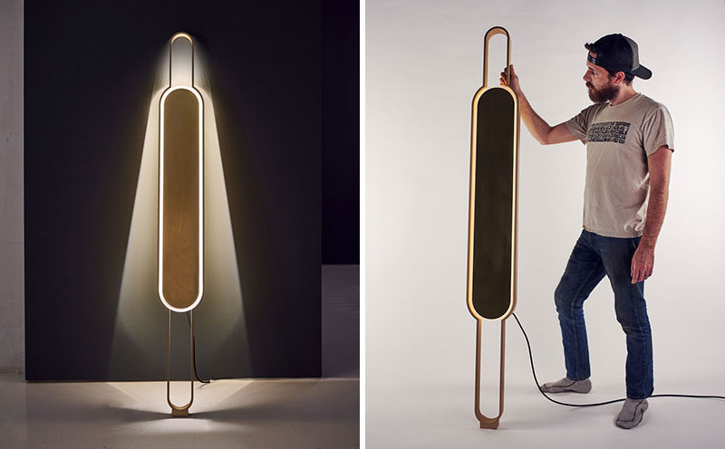 Mark Kinsley and Tamera Leigh Staten of Lake + Wells, together with Karice, have created Portal, a modern lamp that's neither a sconce nor a floor lamp, and yet it it can act as both. #Lighting #LightDesign #ModernLighting