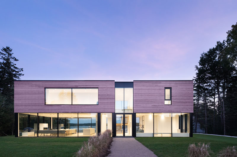 Canadian firm Omar Gandhi Architect have recently completed a modern coastal cottage in Chester, Nova Scotia, that was designed as a summer home for a family. #ModernHouse #HouseDesign #ModernArchitecture