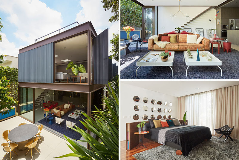 Located in the city of São Paulo, Brazil, the Box House was designed by Flavio Castro of architecture firm FCStudio, for himself to live in. #ModernHouse #HouseDesign #ModernArchitecture