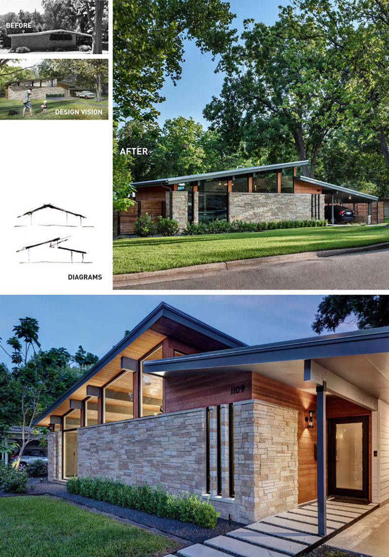 Before after matt fajkus architecture have recently completed the contemporary remodel of an original
