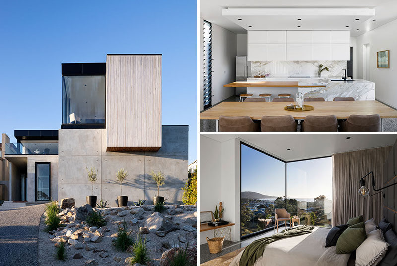 ARKI Design Studio have recently completed Martha's Peak, a new modern house in Mount Martha, Australia, that's designed to have a resort-like feeling. #Architecture #InteriorDesign #ModernHouse