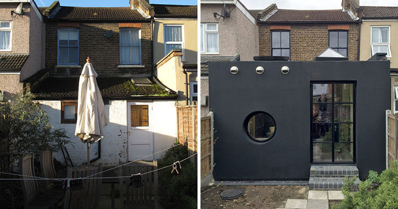 Office S&M have designed a modern house extension in London, that's coated in a spray-on rubber which was first developed for oil rigs. #HouseExtension #Architecture