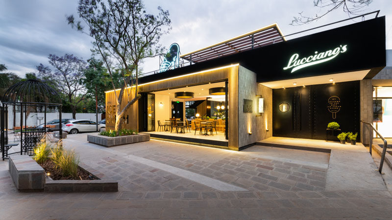 FERRO & ASSOC. Architects have recently completed the flagship store of Lucciano's, an artisan ice cream cafe. #Cafe #Restaurant #Architecture