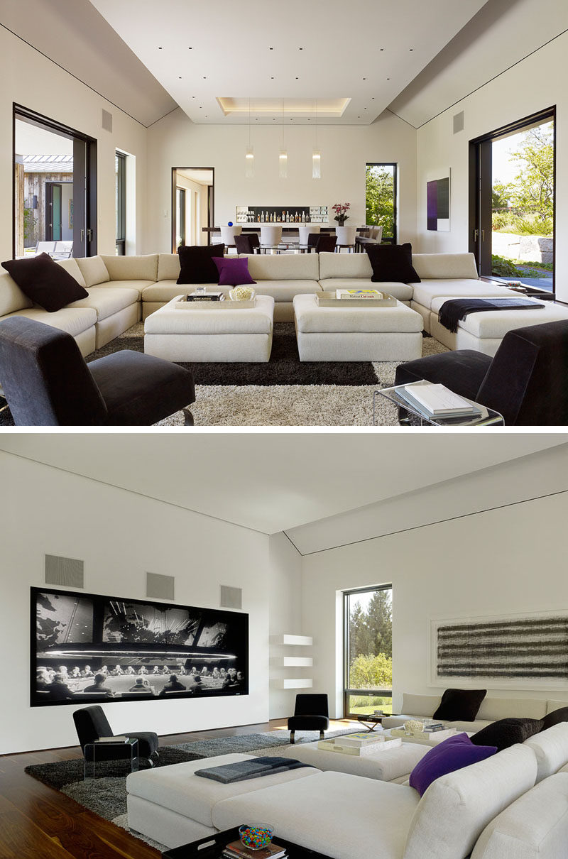 This contemporary living room has been designed for both entertaining and relaxation. #LivingRoom #ContemporaryInterior