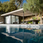 This Poolhouse Combines Rustic Siding With California Modernism