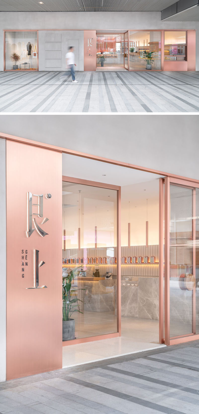 "OFFICE COASTLINE have recently completed a new modern tea house in the city of Shanghai, China, for the life-style brand ""Genshang"". #InteriorDesign #CafeDesign #TeaHouse #ModernRestaurant"