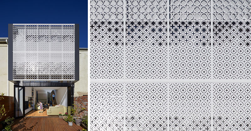 Design Detail: A Lace-Like Screen Provides Privacy And A Decorative Element For This House