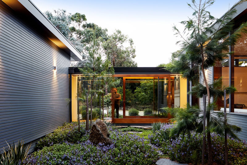 Tim Spicer Architects have recently completed the renovation and extension of a house, originally designed by architect Hugh Tuffley, that's located in Shoreham, a seaside town south of Melbourne, Australia. #Architecture #Landscaping #HouseExtension