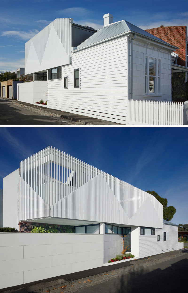 To create more space and to save the original front of this house, the architects introduced asecond storey volume to the rear of the property. #Architecture #HouseAddition