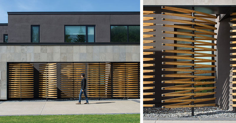 Architectural Design Detail - Pivoting Wood Screens