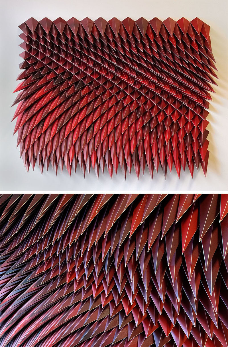 American paper engineer and artist Matt Shlian, has created a collection of sculptures where he uses paper to form artwork that almost look like they're moving. #Art #Sculpture