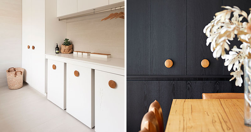 Design Idea - Oversized Wood Knobs On Cabinets