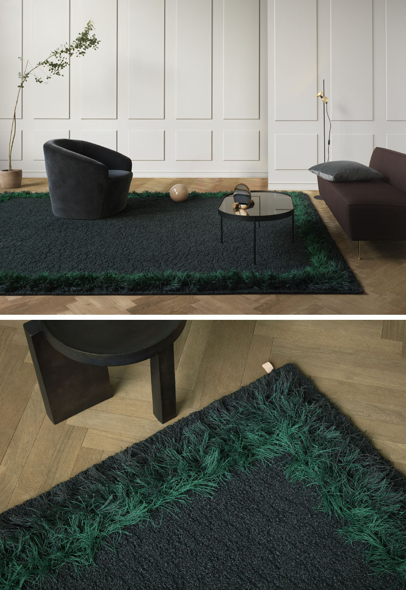 Kasthall Design Studio recently launched their first rug 'Feather', that was inspired by the feather boas and fringes of the 70s, as well as how plumage and feathers reflect the light and shift in color. #RugDesign #HomeDecor #Rug