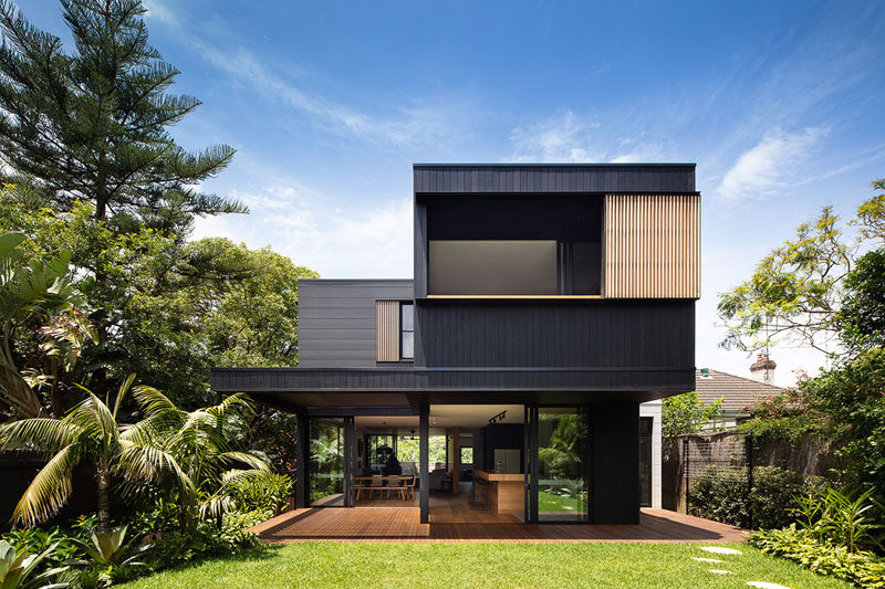 7 Popular Siding Materials To Consider: The Exterior Of This House Has Blackened Wood Siding With