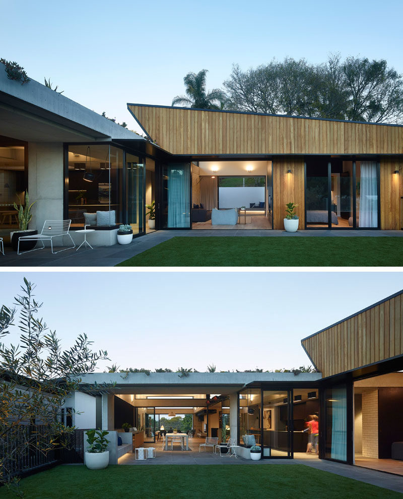 Shaun Lockyer Architects (SLa) have designed a contemporary extension to home in Brisbane, Australia, that creates additional living spaces for the family that lives there. #ModernHouseExtension