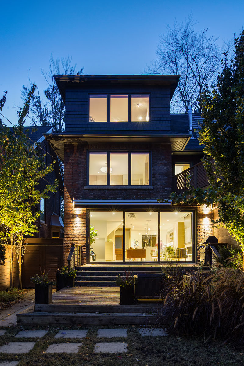 As part of the renovation of this house, a third floor dormer was extended in order to make a large master suite. #Renovation #Architecture