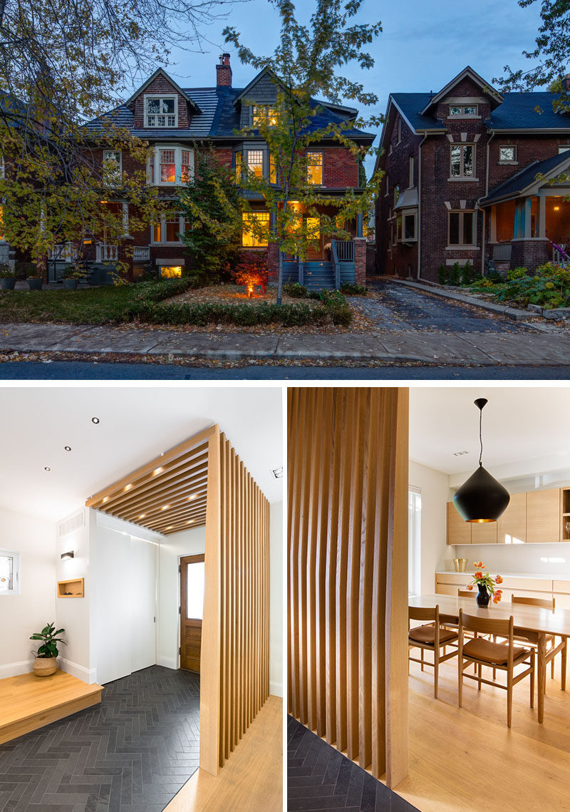 The interior of this historic house has been updated with a Scandinavian-like aesthetic. #Renovation #ModernInterior #Scandinavian