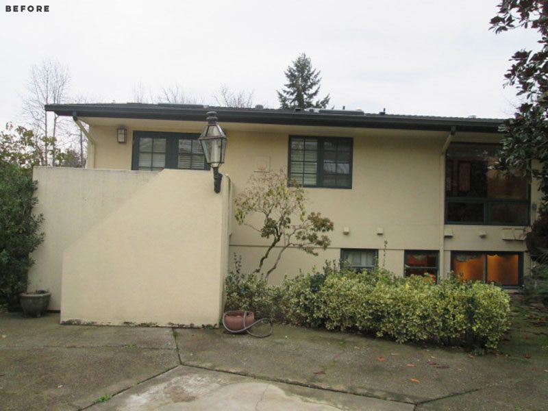 BEFORE PHOTO - this old and dated house was renovated into a modern and bright West Coast home. #Renovation