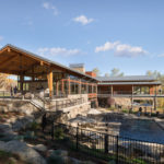 A Contemporary Wood-Filled Activity Center Has Been Designed For This Community In Colorado