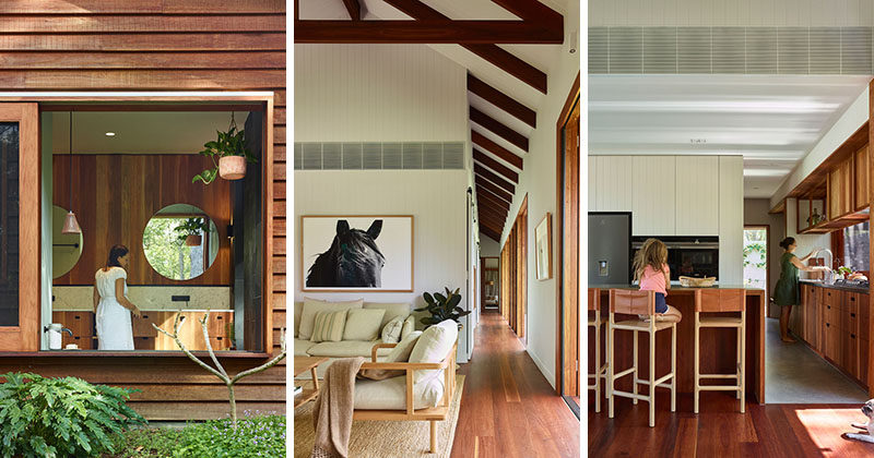 Shaun Lockyer Architects (SLa) designed 'Greenhouse', an environmentally responsible family home built on acreage outside Brisbane, Australia. #ModernWoodHouse #ModernArchitecture