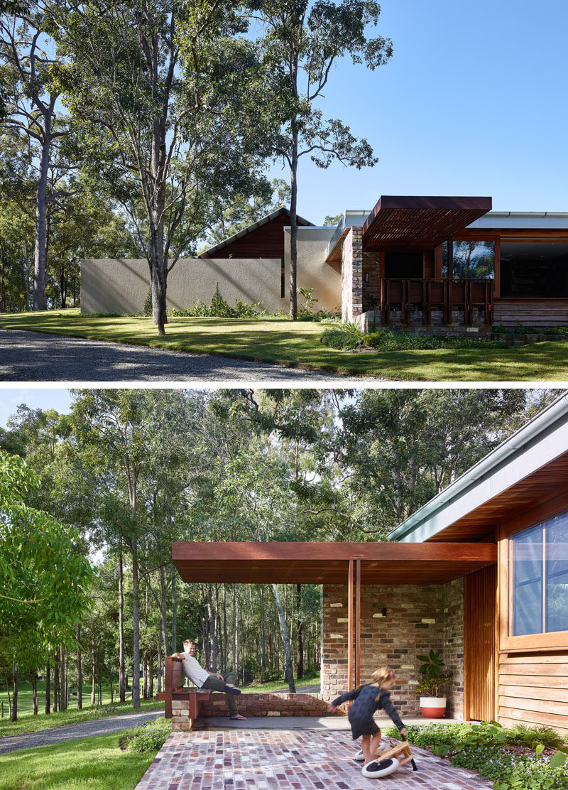 Shaun Lockyer Architects (SLa) designed 'Greenhouse', an environmentally responsible family home built on acreage outside of Brisbane, Australia. #Architecture #ModernHouse
