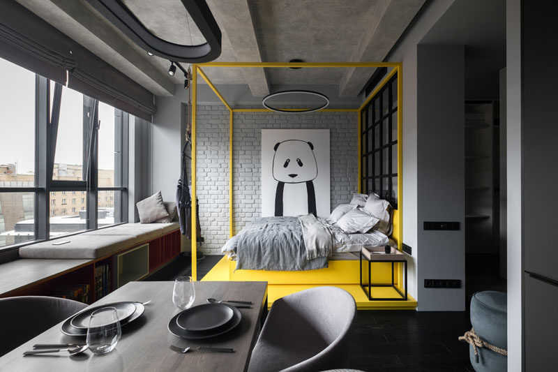 Cartelle Design has completed the interiors of a small apartment in Moscow, Russia, for a young woman who wanted a modern and stylish space. #ModernApartment #SmallApartment #InteriorDesign