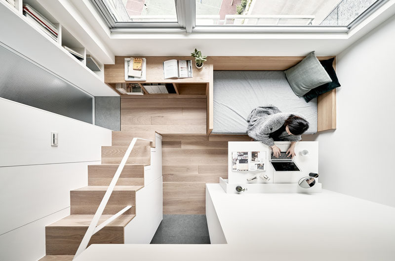 Interior design firm A Little Design, has recently completed the modern renovation of a small 236 square foot (22m2) apartment in Taipei, Taiwan. #TinyApartment #ModernApartment #SmallApartment #InteriorDesign